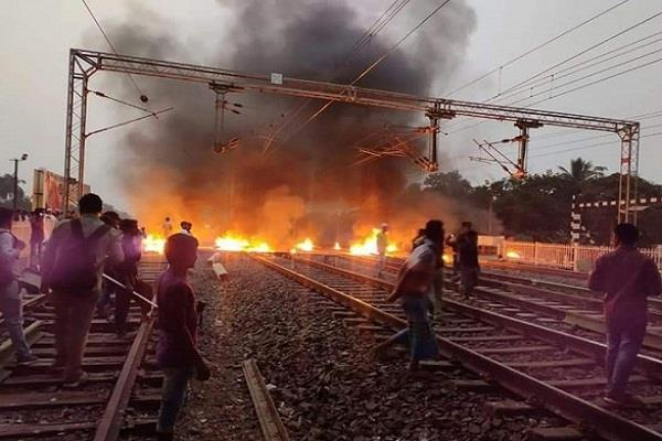 railways target in anti caa movement