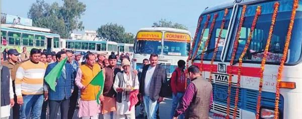 6 new buses joined sonipat depot