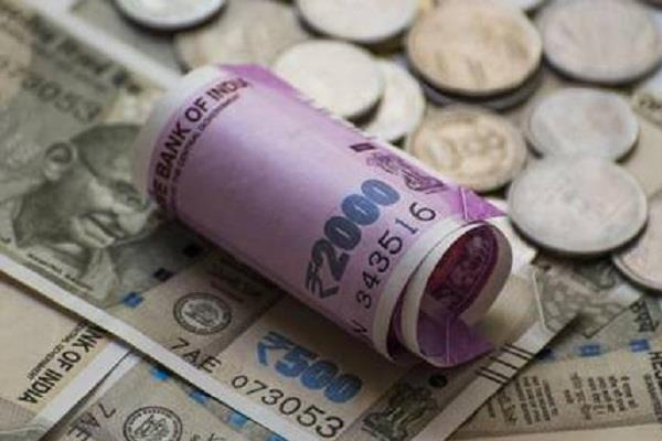 rupee fell seven paise against dollar