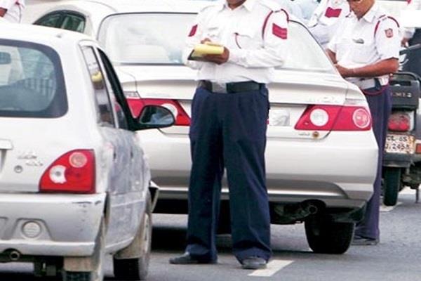 bjp eyes broke traffic rules officials cut challans