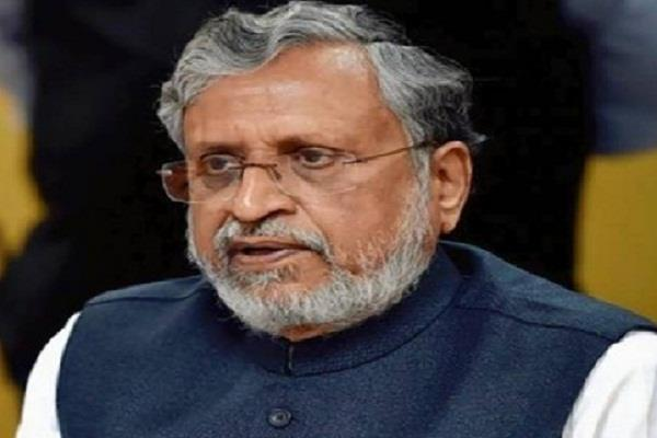 sushil modi accused rjd and congress