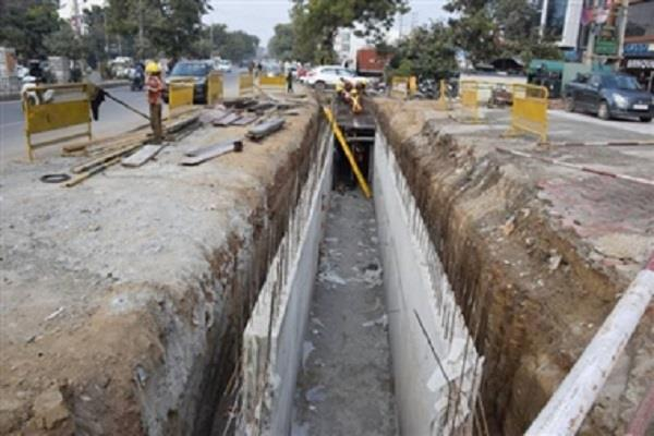corporation expressed objection to construction of drain