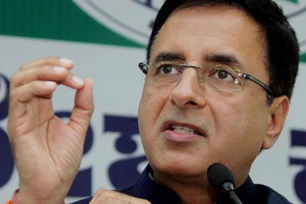 congress budget narendra modi randeep surjewala