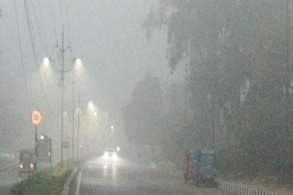 heavy fog and rain in mp the speed of trains