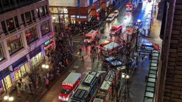 1 person killed and 5 injured in downtown seattle shooting