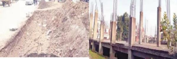 construction work costing crores of rupees was also incomplete