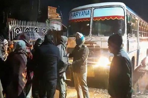 nationwide strike buses run in haryana