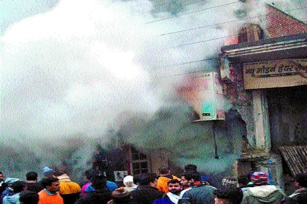 cylinder burst shop fire big accident averted