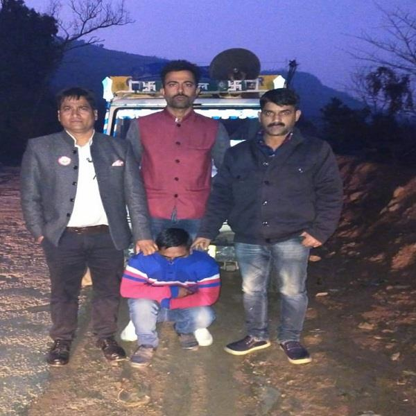 jeep driver caught with 34 85 g charas