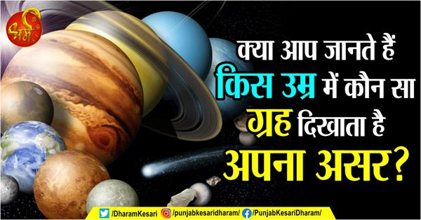 do you know planets shows its effect at which age