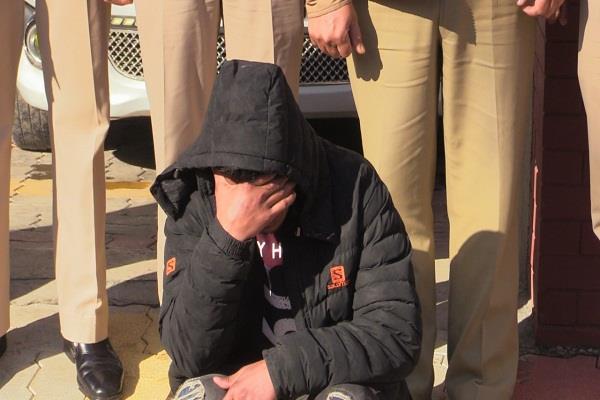 sundernagar police arrested a young man with a blog
