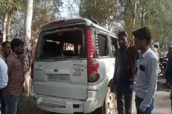 ex sarpanch assaulted in nuh sabotaged cash in a car