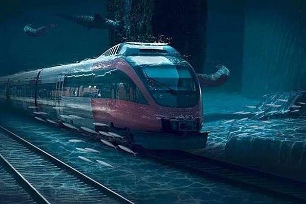metro will run under water for the first time in the country