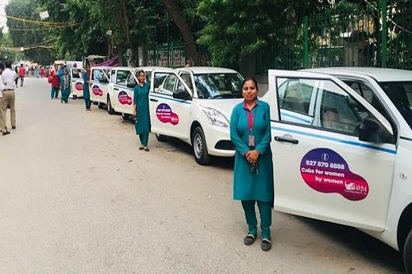 delhi airport has an all women cab service now