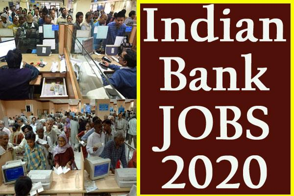 indian bank recruitment 2020 apply online for 138 specialist officer post