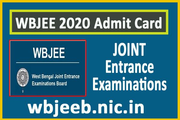 wbjee 2020 admit card released