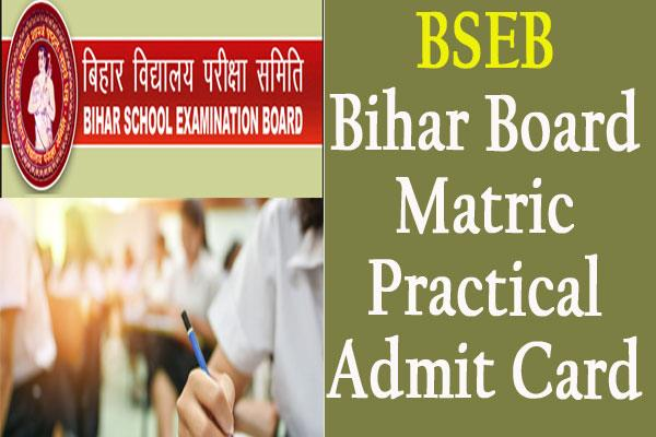 bseb 2020 bihar board matriculation admit card issued