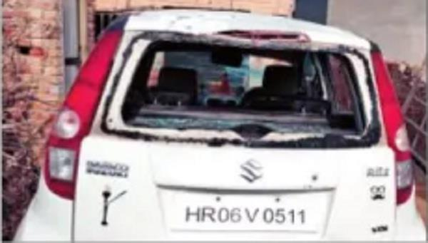 the miscreants broke the cctv cameras and glass of the car