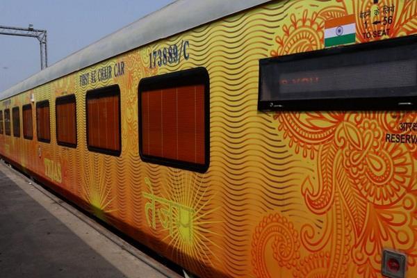 mumbai ahmedabad tejas express ran on track