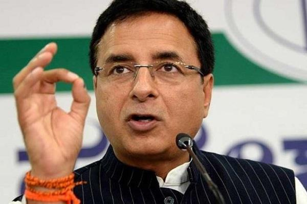 surjewala said the poor government made haryana the center of crime
