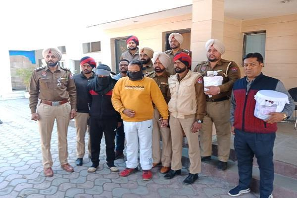 police arrested 2 drug smugglers with heroin worth 10 crores