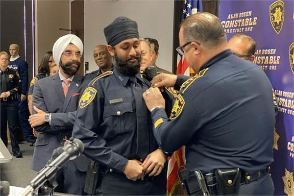 indian american sikh becomes harris county s first deputy constable