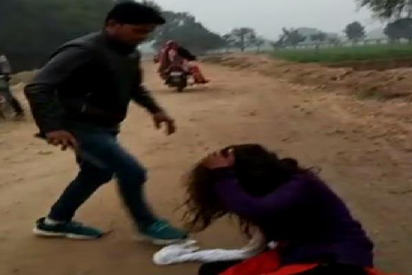 husband beats wife with kick and bribes on havan beach road