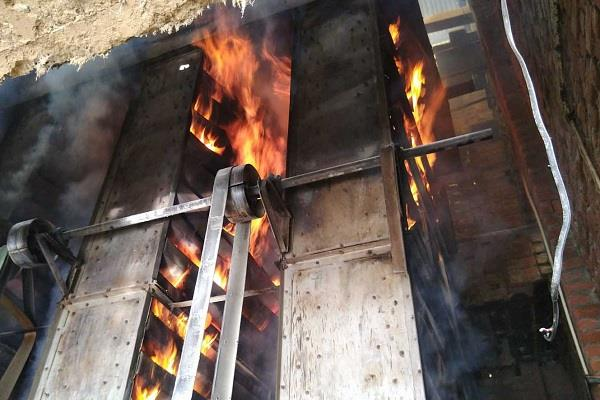 fire in rice mill