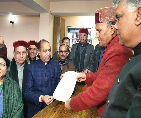 rajiv bindal filled nomination papers for the post of bjp president
