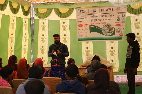 people made aware by putting workshop on plastic waste