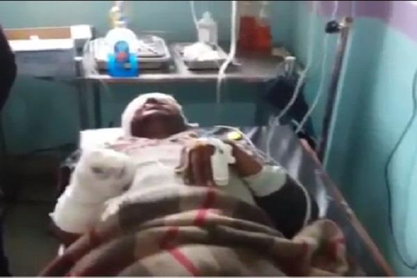 explosion in etawah a young man injured stirred up