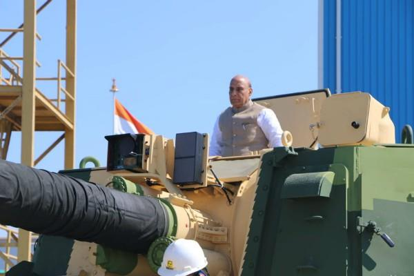 defense minister flags off 51st k 9 vajra cannon