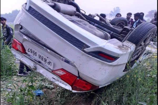 high speed havoc uncontrolled car overturns two students die