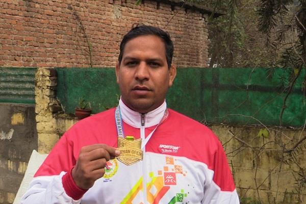 jitendra chauhan named for gold medal
