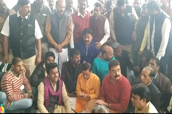 at the end of the term of bjp mayor congress performed the purification yagya
