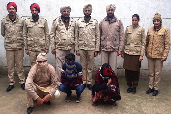 police rade three arrested