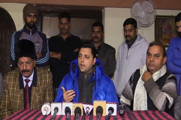 ashar sharma accuses bjp