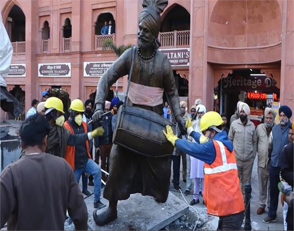 amritsar heritage route statues remove