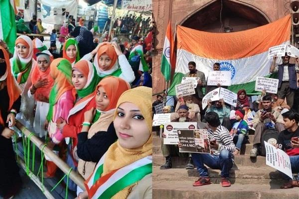 on republic day protests with patriotism in shaheen bagh