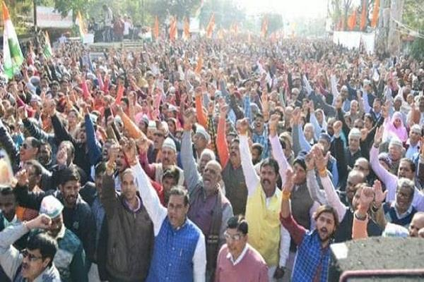thousands people came out support caa bhopal huge rally held