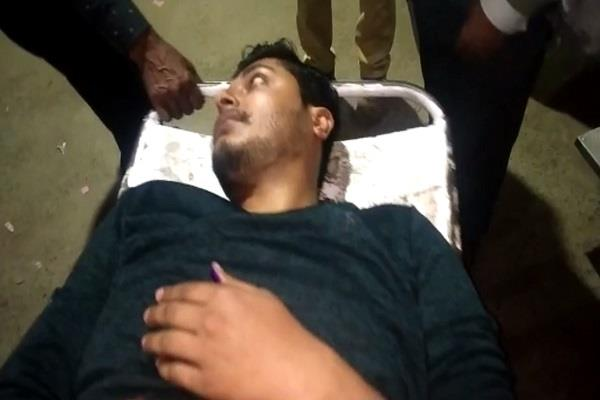 bjp worker shot by bike miscreants condition critical