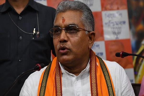 dilip ghosh again became president of west bengal bjp