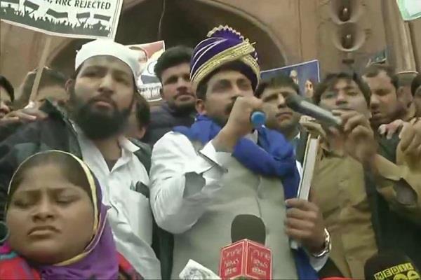 chandrashekhar reached jama masjid orders to leave delhi in 24 hours