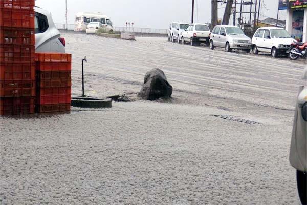heavy rain and hailstorm in sundernagar
