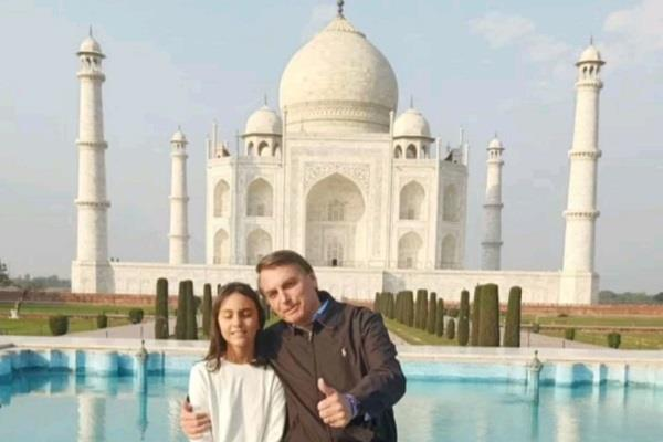 brazilian president zaire messias boloncero crowned the taj with his daughter