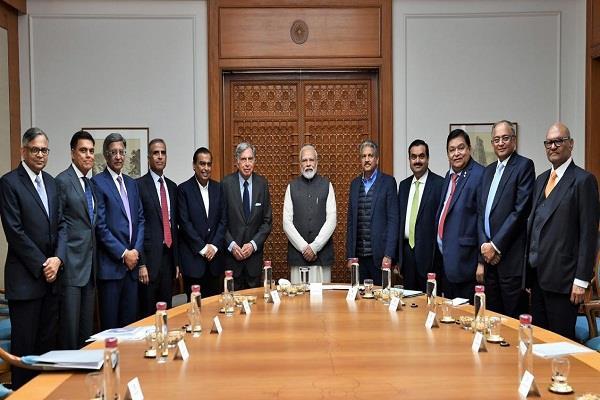 modi s meeting with ambani adani other industrialists