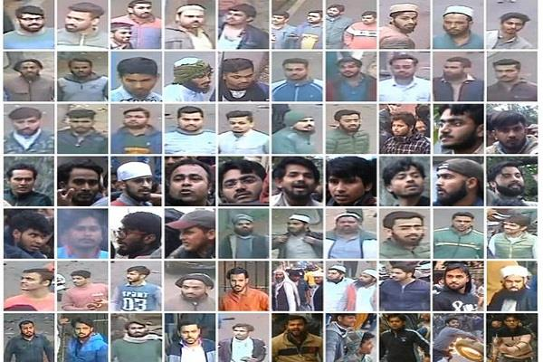 delhi police released pictures of 70 people who committed violence in jamia