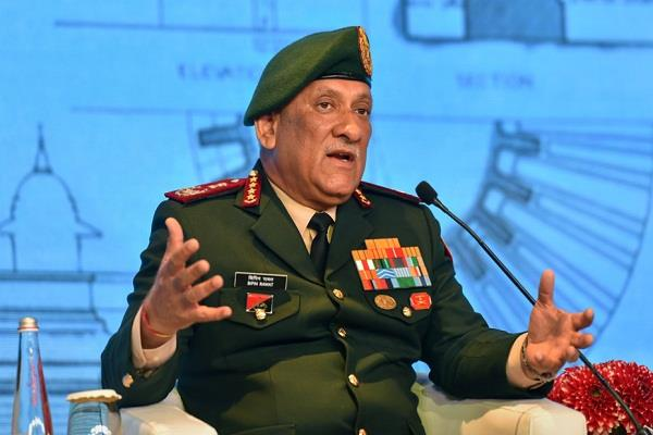 there are camps to free radicalism in india general rawat