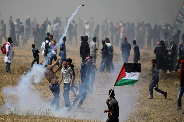 50 palestinians injured in conflict with israeli army