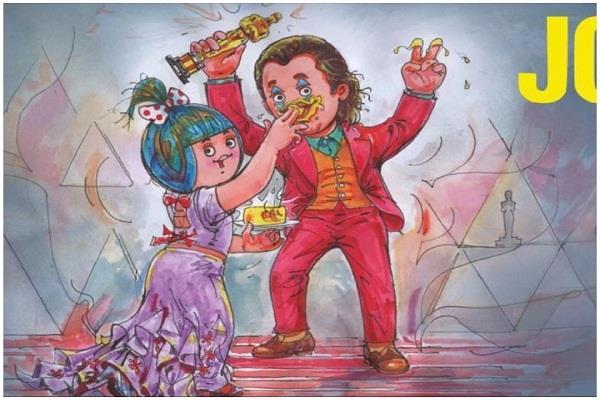 amul india creates cartoon for oscar winner walkin phoenix peta criticizes